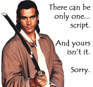 There can be only one... script