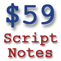 $59 Dollar Script Notes