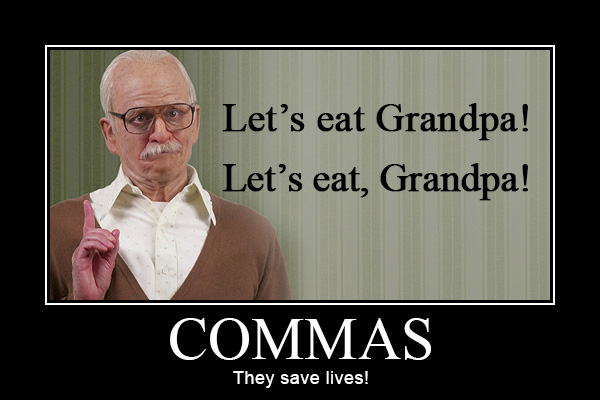 Commas - They Save Lives!